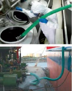 Exemplo de aplicação da mangueira para produtos químicos e solventes