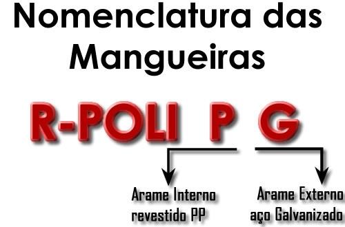 Exemplo e explicação das nomenclaturas das mangueiras compostas