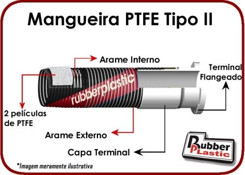 mangueira composta de PTFE tipo II
