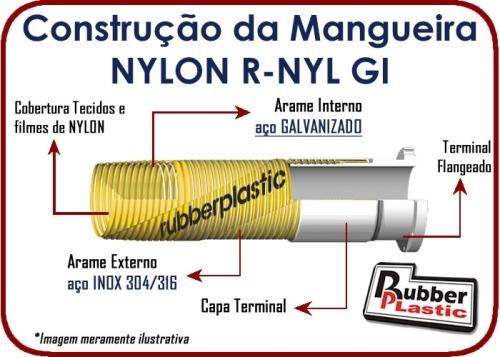 CONSTRUÇÃO DA mangueira composta de nylon R-NYL GI