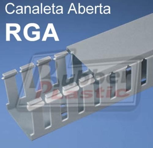 Canaleta em pvc aberta rga rubberplastic - Canaleta de pvc ...